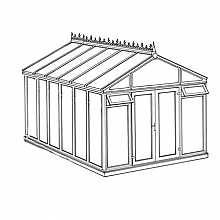 Pavilion Full Height DIY Conservatory 3158mm width x 4568mm projection