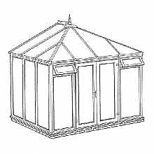 Edwardian Full Height Conservatory 3158mm width x 2343mm projection