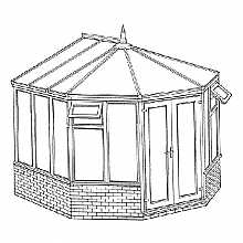 Victorian Dwarf Wall Conservatory 3274mm width x 2924mm projection