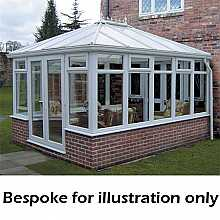 Edwardian double hipped dwarf wall conservatory 3500mm (d) x 5000mm (w)