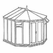 Victorian Full Height Conservatory 3274mm width x 2924mm projection