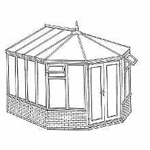 Victorian Dwarf Wall Conservatory 3274mm width x 3557mm projection