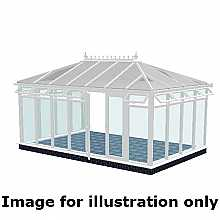 Edwardian double hipped full height conservatory 3000mm (d) x 3000mm (w)