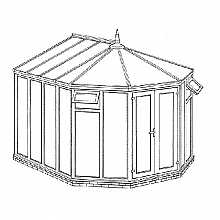 Victorian Full Height DIY Conservatory 3274mm width x 3557mm projection
