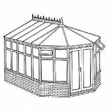 Victorian Dwarf Wall Conservatory 3443mm width x 3746mm projection