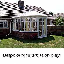 Victorian double hipped dwarf wall conservatory 3500mm (d) x 5000mm (w)