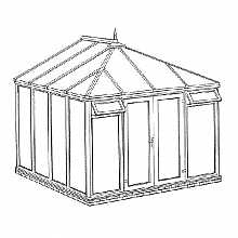 Edwardian Full Height DIY Conservatory 3158mm width x 3086mm projection