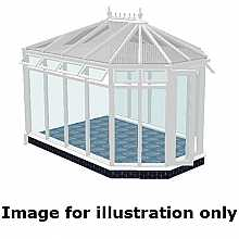 Victorian double hipped full height conservatory 5000mm (d) x 5000mm (w)