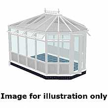 Victorian double hipped infill panel DIY Conservatory 5000mm (d) x 4500mm (w)