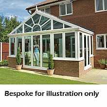 Pavilion dwarf wall conservatory 3000mm (d) x 5000mm (w)