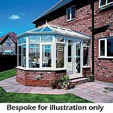 Victorian dwarf wall conservatory 4000mm (d) x 4000mm (w)