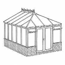Edwardian Dwarf Wall DIY Conservatory 3158mm width x 3829mm projection