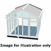 Pavilion full height conservatory 5000mm (d) x 6000mm (w)