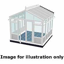 Pavilion infill panel conservatory 5000mm (d) x 4000mm (w)