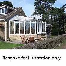 Gullwing dwarf wall conservatory 4000mm (d) x 5500mm (w)