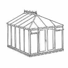 Edwardian Full Height Conservatory 3158mm width x 3829mm projection