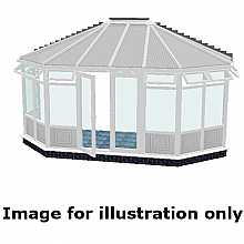Gullwing infill panel conservatory 3500mm (d) x 9000mm (w)