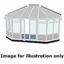 Gullwing infill panel conservatory 3500mm (d) x 9000mm (w)