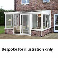 Lean to dwarf wall conservatory 3500mm (d) x 7500mm (w)