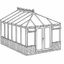 Edwardian Dwarf Wall Conservatory 3158mm width x 4568mm projection