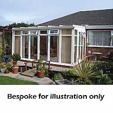 Lean to full height conservatory 3500mm (d) x 8000mm (w)
