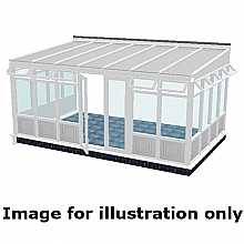 Lean to infill panel conservatory 3500mm (d) x 4500mm (w)