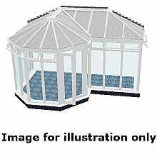 P shape Victorian full height DIY Conservatory 4500mm (d) x 9500mm (w)