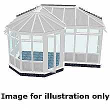 P shape Victorian infill panel conservatory 4500mm (d) x 9000mm (w)