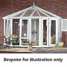 Victorian full height DIY Conservatory 4000mm (d) x 5000mm (w)