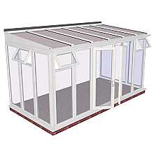 Lean-to Full Height Conservatory 4644mm width x 2343mm projection