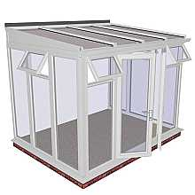 Lean-to Full Height DIY Conservatory 3158mm width x 2343mm projection