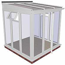 Lean-to Full Height DIY Conservatory 2415mm width x 2343mm projection