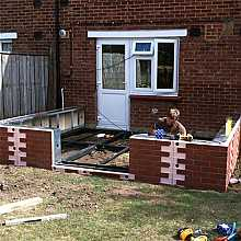 Traditional Conservatory Steel Base & Dwarf Wall 3500mm(d) x 9000mm(w)