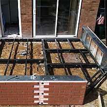 Gullwing Conservatory Steel Base & Dwarf Wall 3500mm(d) x 8500mm(w)